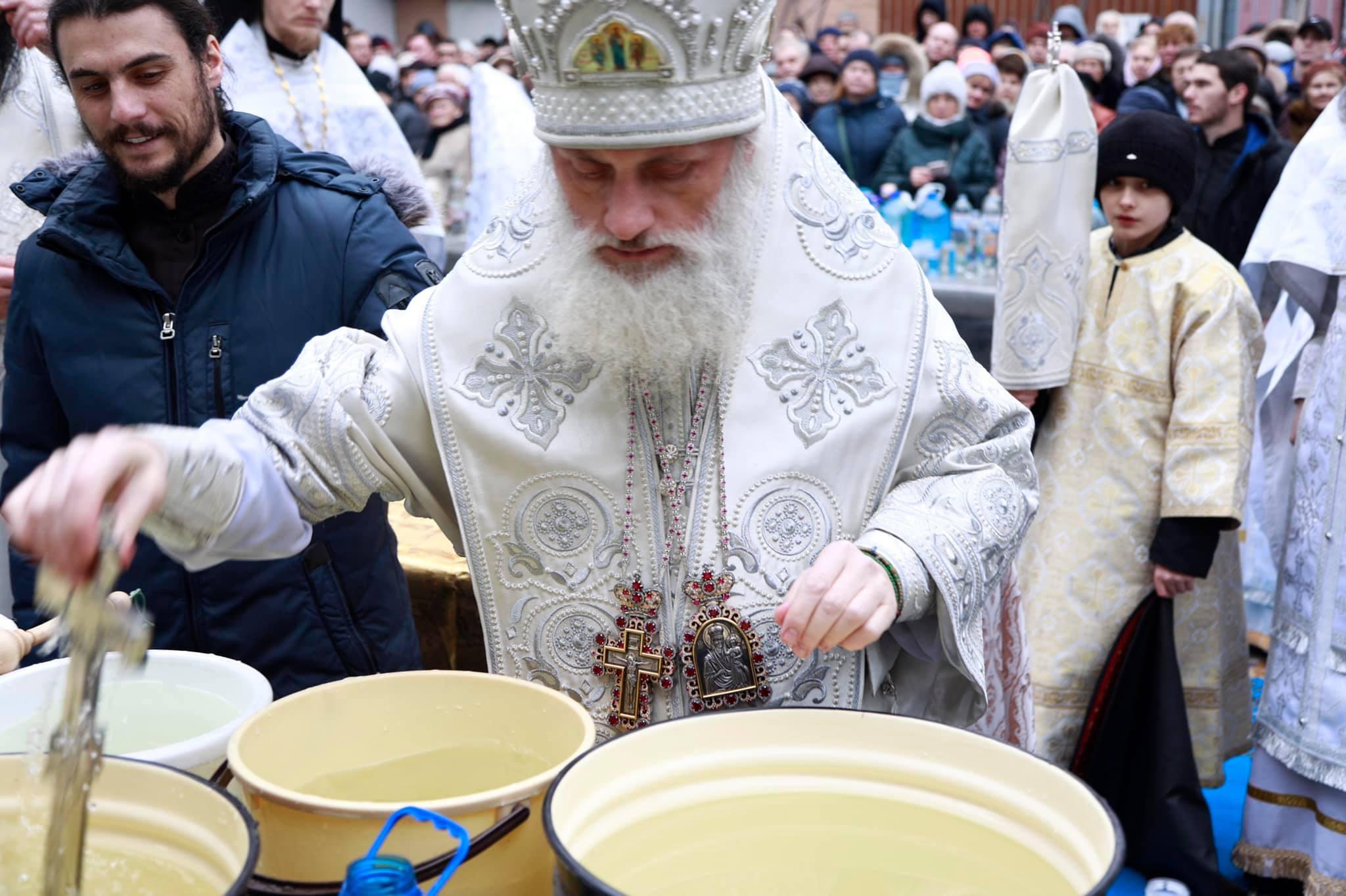 Божественная литургия в день Богоявления - Крещения Господа Иисуса Христа.